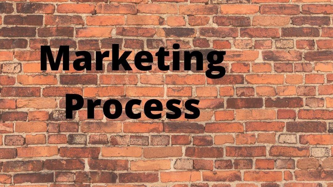 Marketing process graffiti on wall