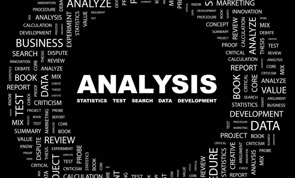 Google analytics represented by analysis word field