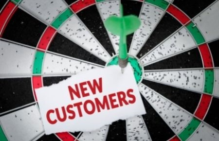 Dartboard indicating how to get more customers